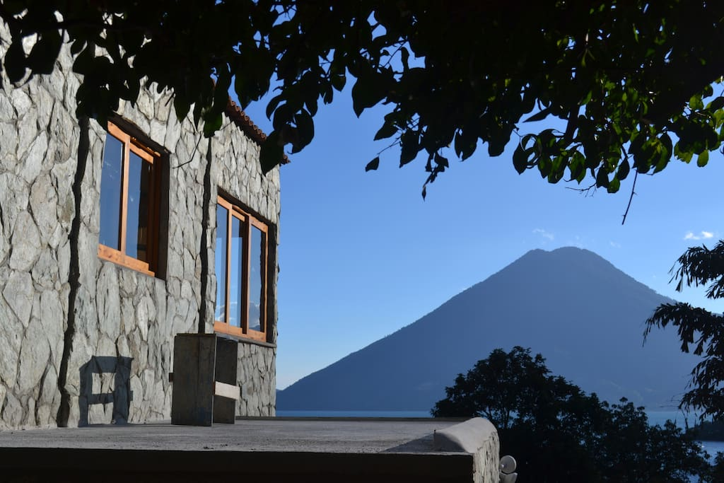 East side of the house with San Pedro Volcano