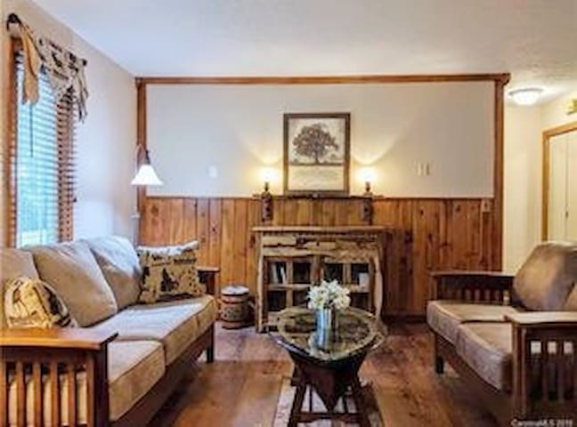 Condo for 2~ Hendersonville~cabin feel~downtown
