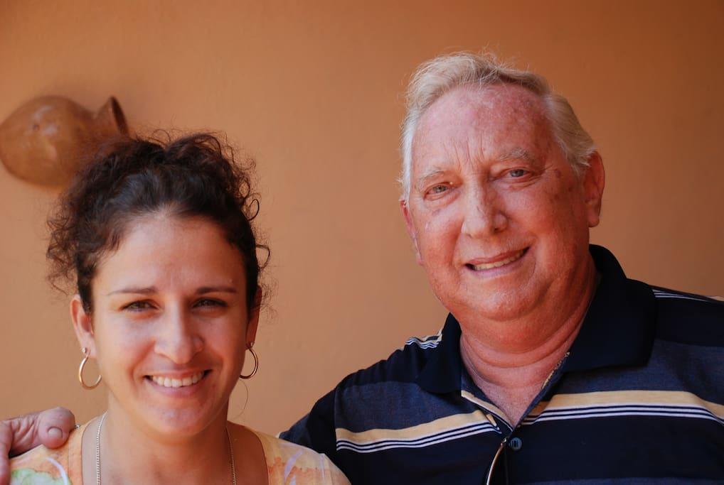 Your host with Casa Amistad co-Director, Rolando Gomez Leon.