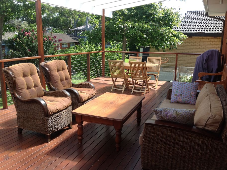 Private, elevated deck with BBQ and cool afternoon breezes