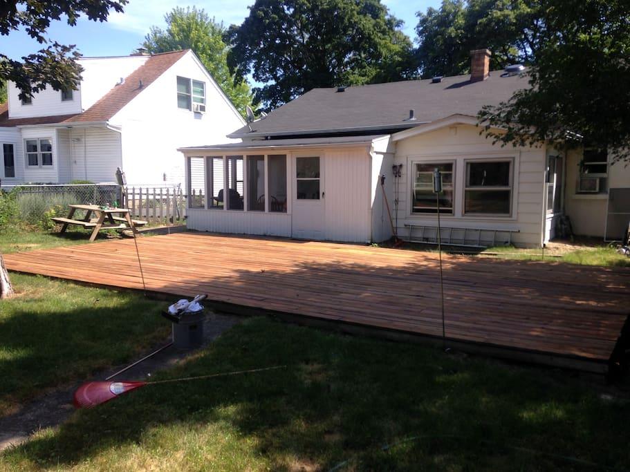 Backyard, great for relaxing