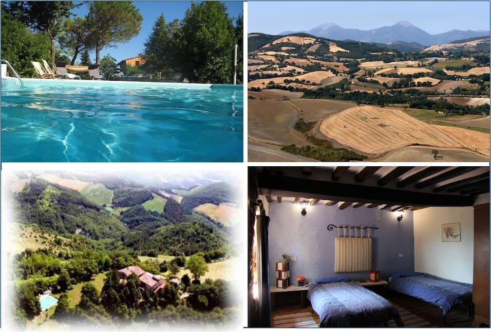 Ca Piero ist: großer Pool, Panoramasicht, stilvolle Zimmer und Natur pur - sparen Sie sich überfüllte Strände und Kosten!