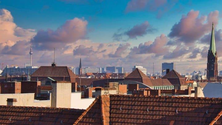 Roof Top über Berlin, exklusive Loft-Wohnung