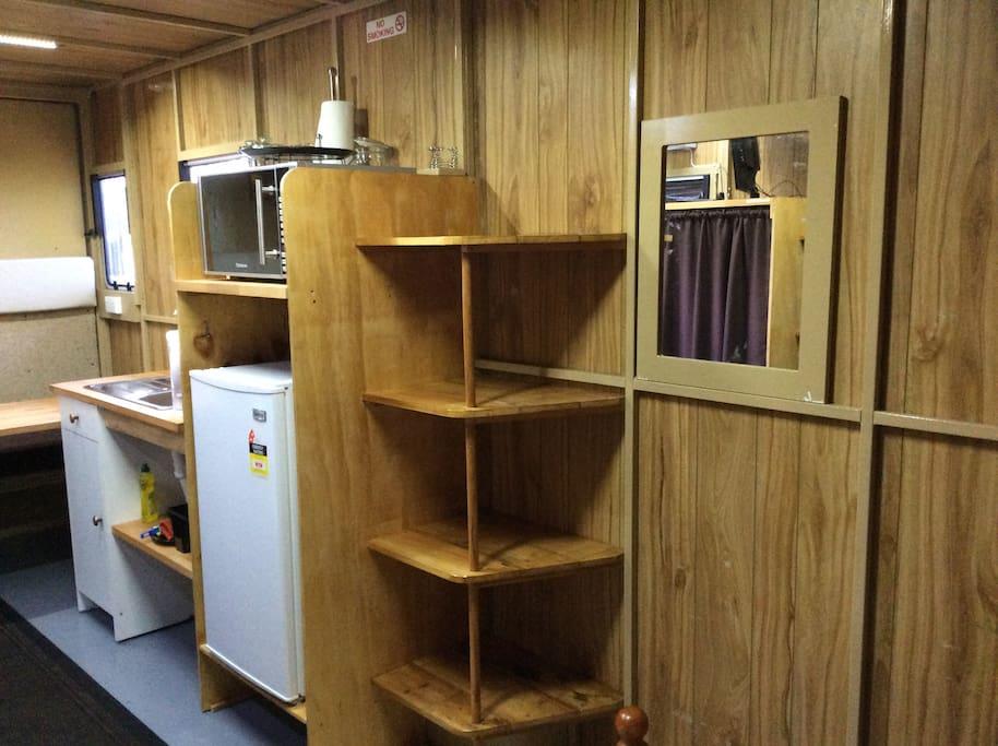 Fridge, m/wave & storage