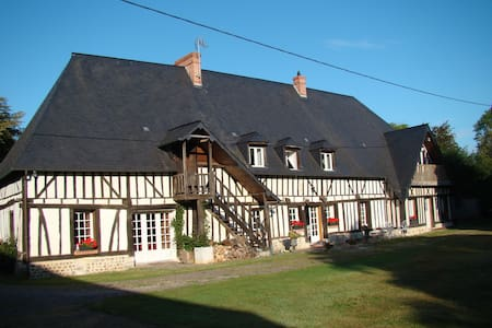 Maison normande jardin clos piscine - Beaumontel - Rumah