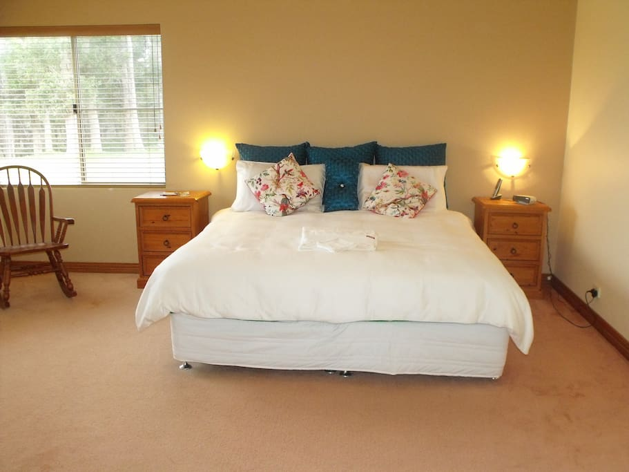 King Bed in very large light and bright bedroom