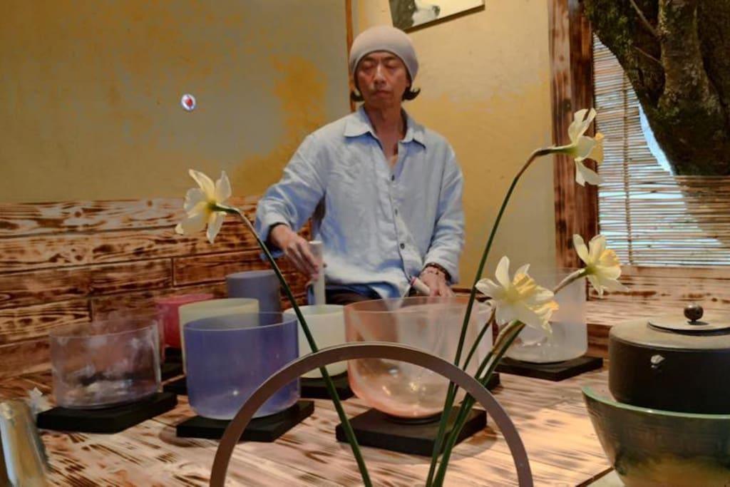 Crystal Ball in Tea Ceremony Room