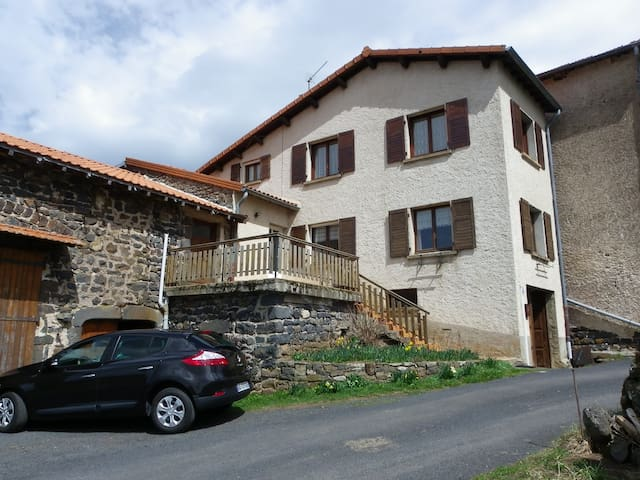 terrasse  vue panoramique - Saint-Jean-Lachalm - Casa