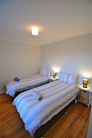The 2nd bedroom can be 2 single beds or 1 king bed