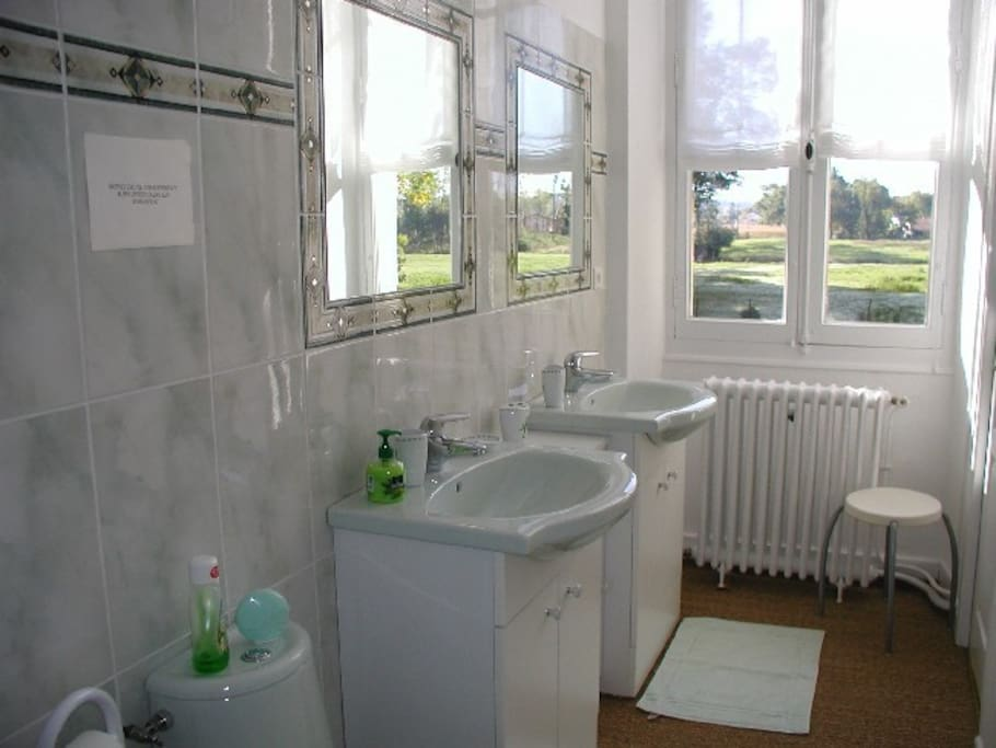 Salle d'eau  avec WC et douche spacieuse