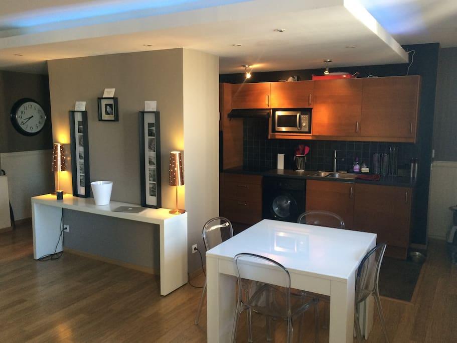 Beau t2 60m2 cosy et design m tro apartments for rent in for 60m2 apartment design