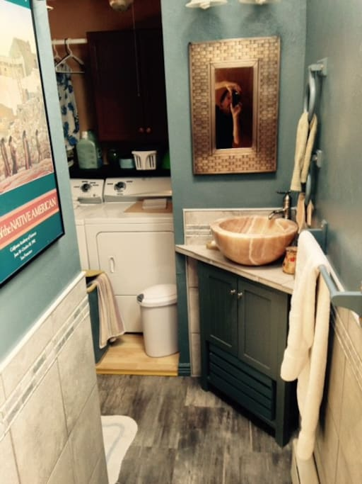 Bath and laundry room.