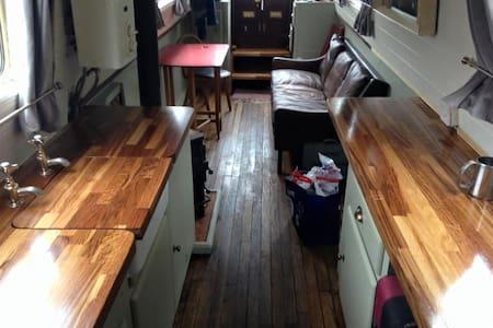 Beautiful Narrow Boat in London - london