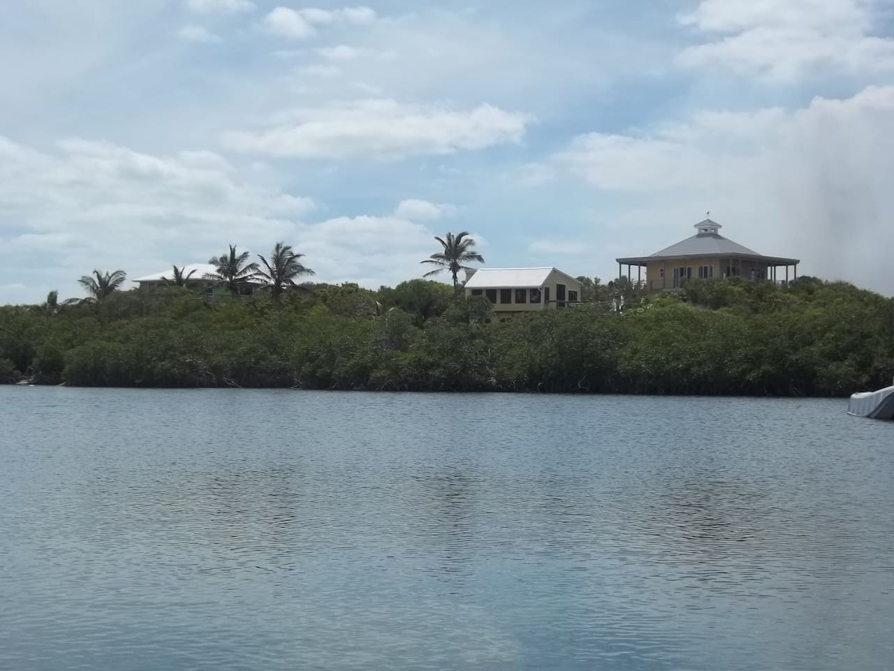 View from across the inlet