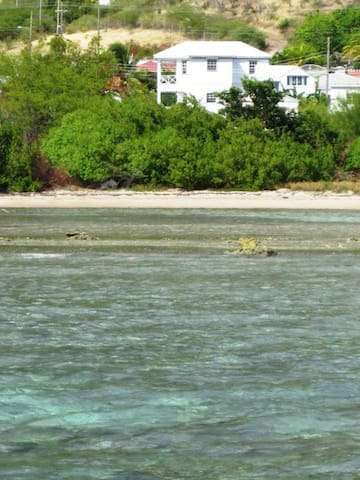 Long winding sandy bays in marine nature park just in front for beachcombing, fishing, snorkeling, kayaking etc