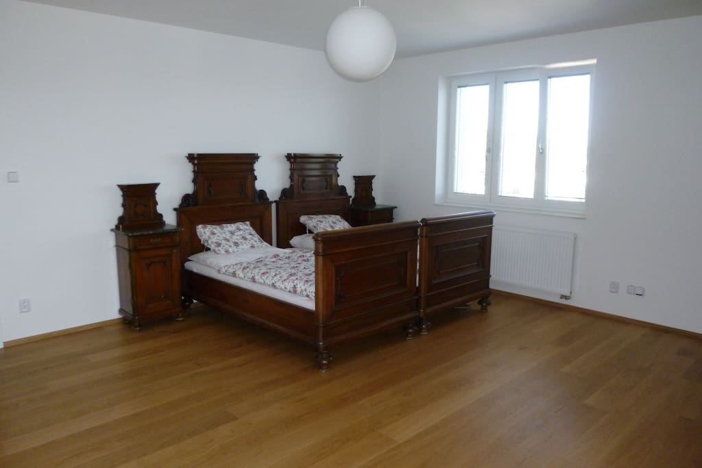 Large room with 2 beds
