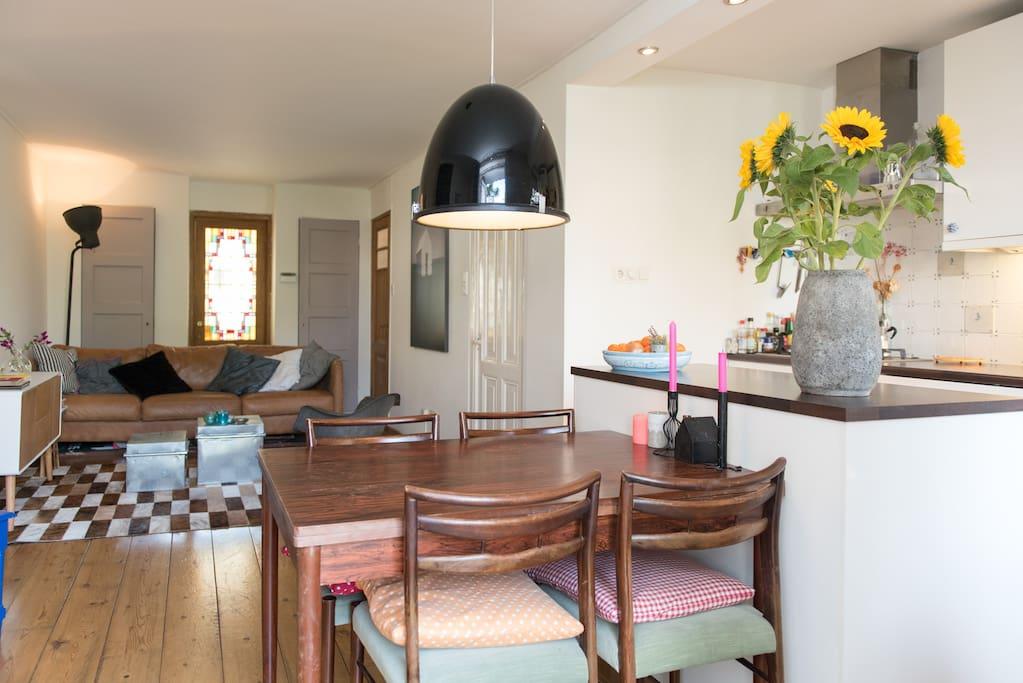 An airy livingroom