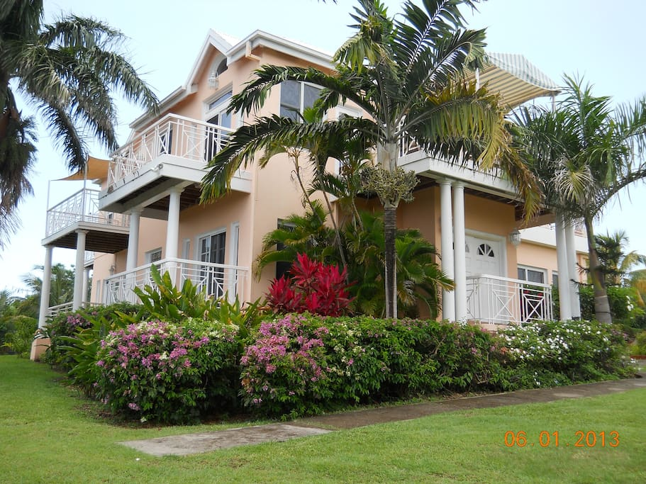 Front view of Royal Palm Villas.