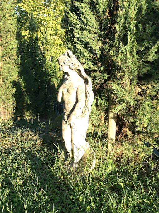 Afrodite sul sentiero della piscina