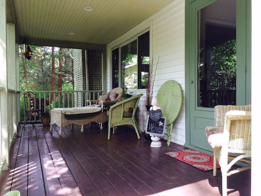 Savor a book or tea on the large covered front porch. 9'x20'