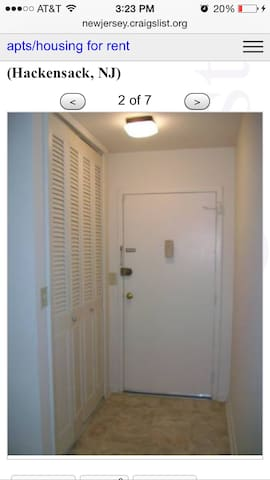 1 bedroom 1 bath clean and cozy apt - Hackensack - Appartement