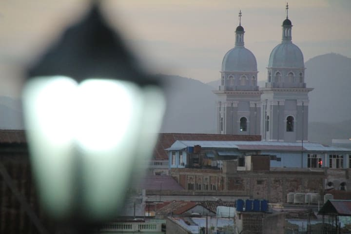 View of the cathedral from our terrace panoramic, very near of our house.