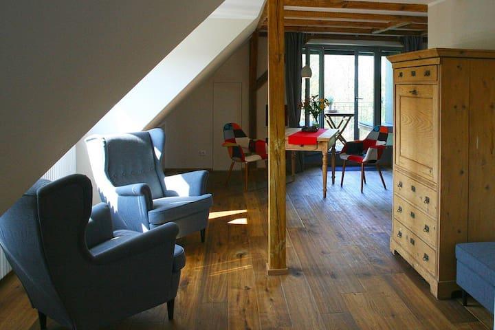 Lieblingswohnung im Elbtal mit Fahrradverleih - Coswig - Appartement