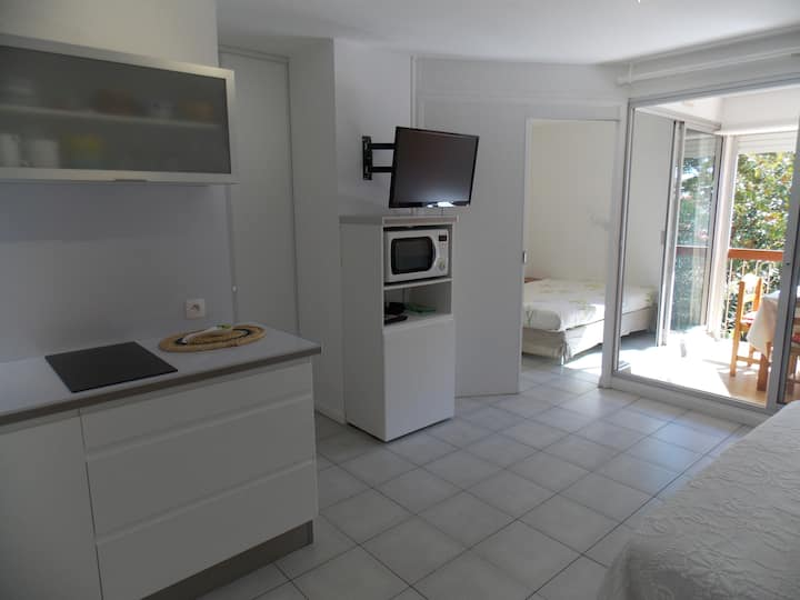 Beautiful and sunny flat T2 near beach for 2P/4P