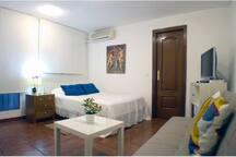 Suite con cama de matrimonio , sofa - cama para dos personas , Tv , aire acondicionado , calefacción
