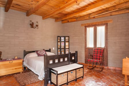 Bedroom in lovely adobe house
