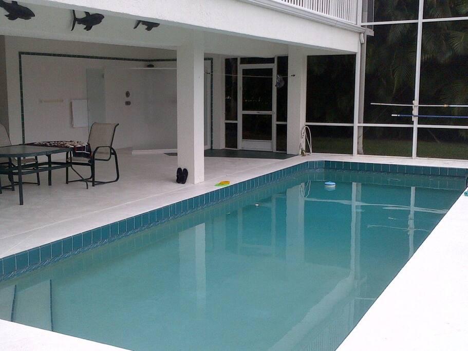 Pool under lanai.