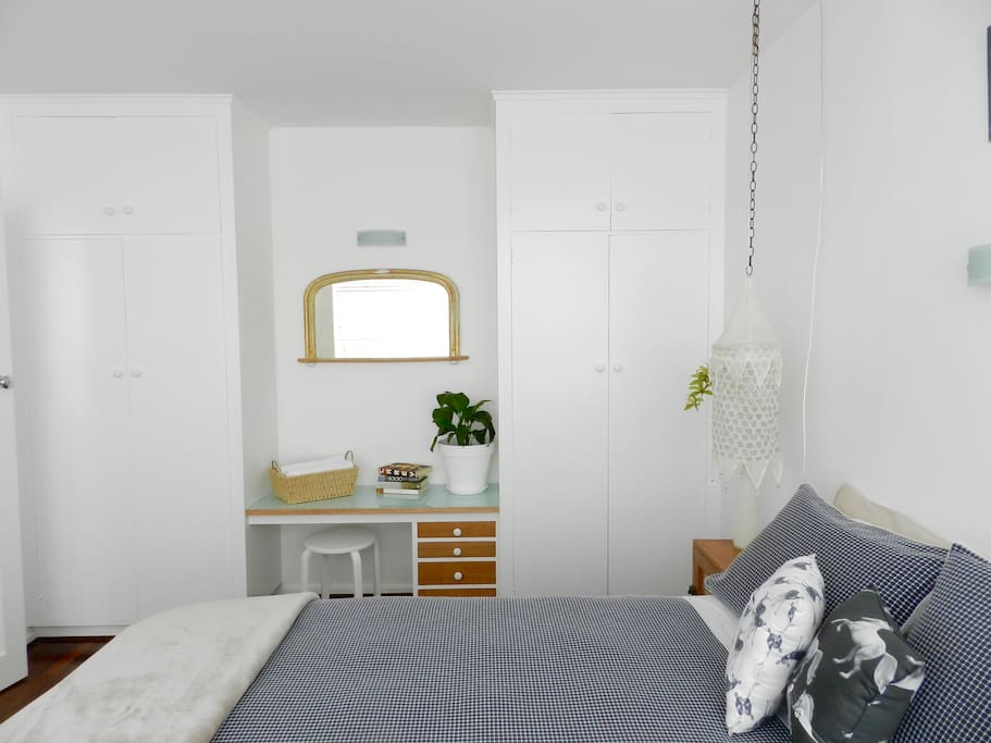 spacious and light filled bedroom