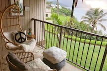 Sway to the sound of the sea from our lanai that overlooks the ocean.