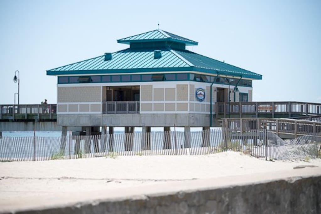 Built within the last four years Buckroe Fishing Pier is a perfect place to catch your dinner