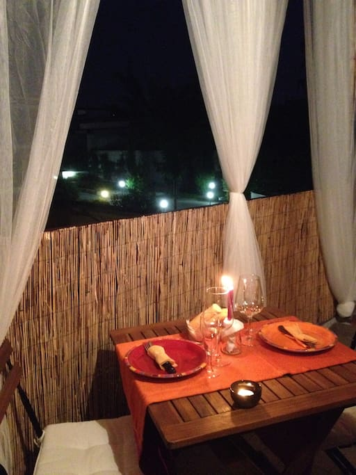 candlelight dinner  in the terrace