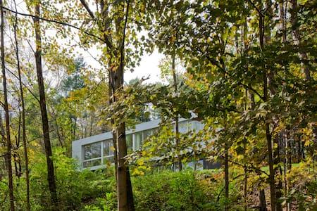 Glass House in the Berkshire Woods - New Marlborough