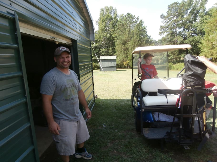 golf cart and clubs!