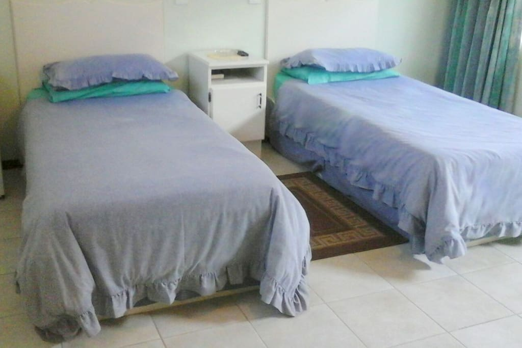 We have double and single beds available.