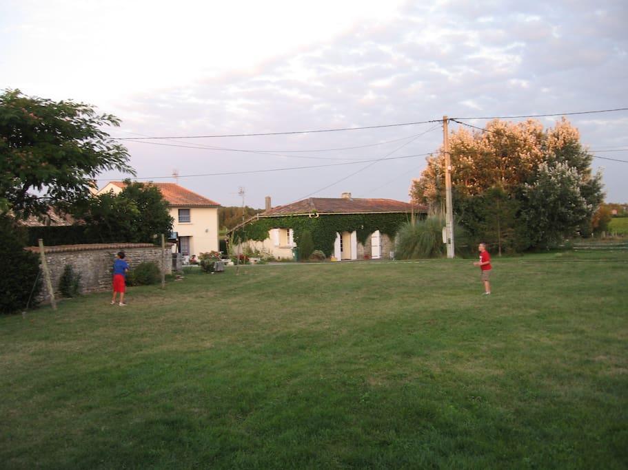 Espace commun devant la maison