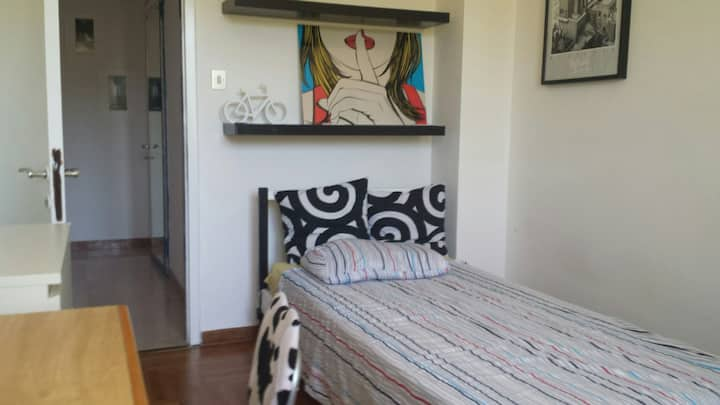 LARGE SINGL ROOM IN SUNNY, CENTRAL APARTMENT