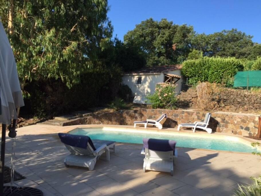 Swimming pool seen from veranda