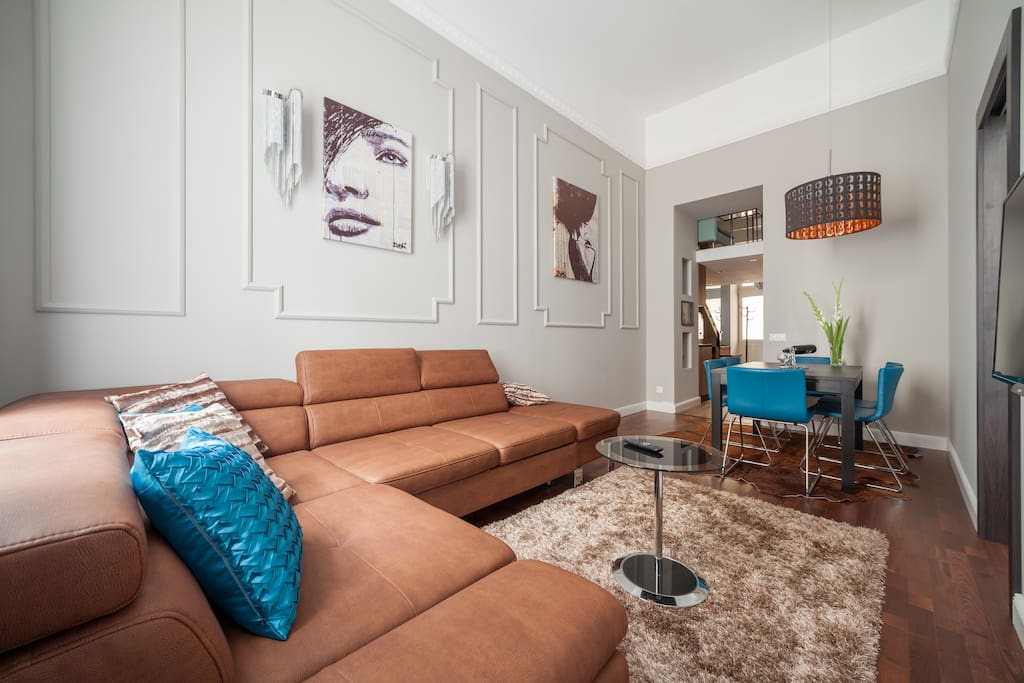 Outstanding design! Luxury and beyond. Sunny and spacious living room.