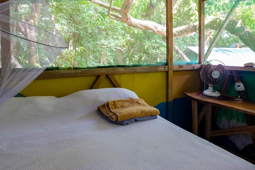 Inside Casa Congo. Like sleeping in nature, but better.