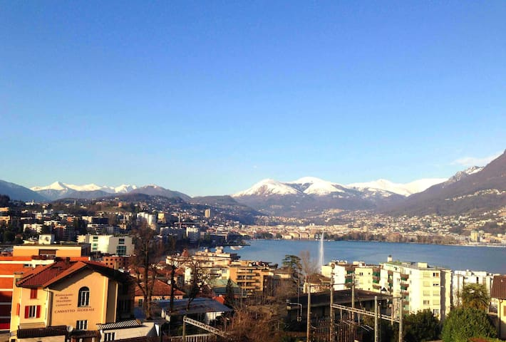 camera matrimoniale Lugano Paradiso - Paradiso - Daire
