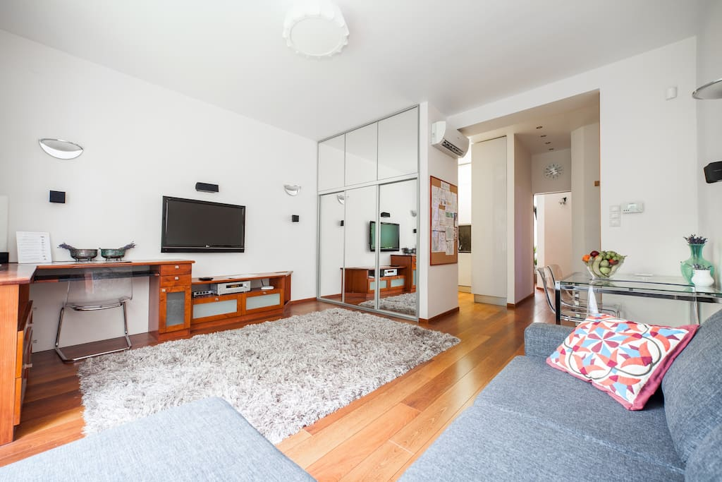 """""""The apartment is exactly as described. You have Wifi and Satellite TV (all major languages) for free. There are detailed descriptions of all electronic devices, timetables of all ground and water transportations in Budapest."""" (Holger, October 2016)"""