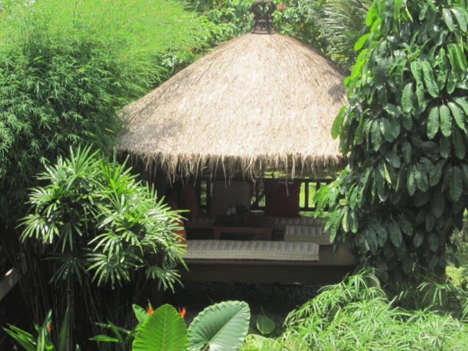Gazebo to relax with wifi and cordless telephone.