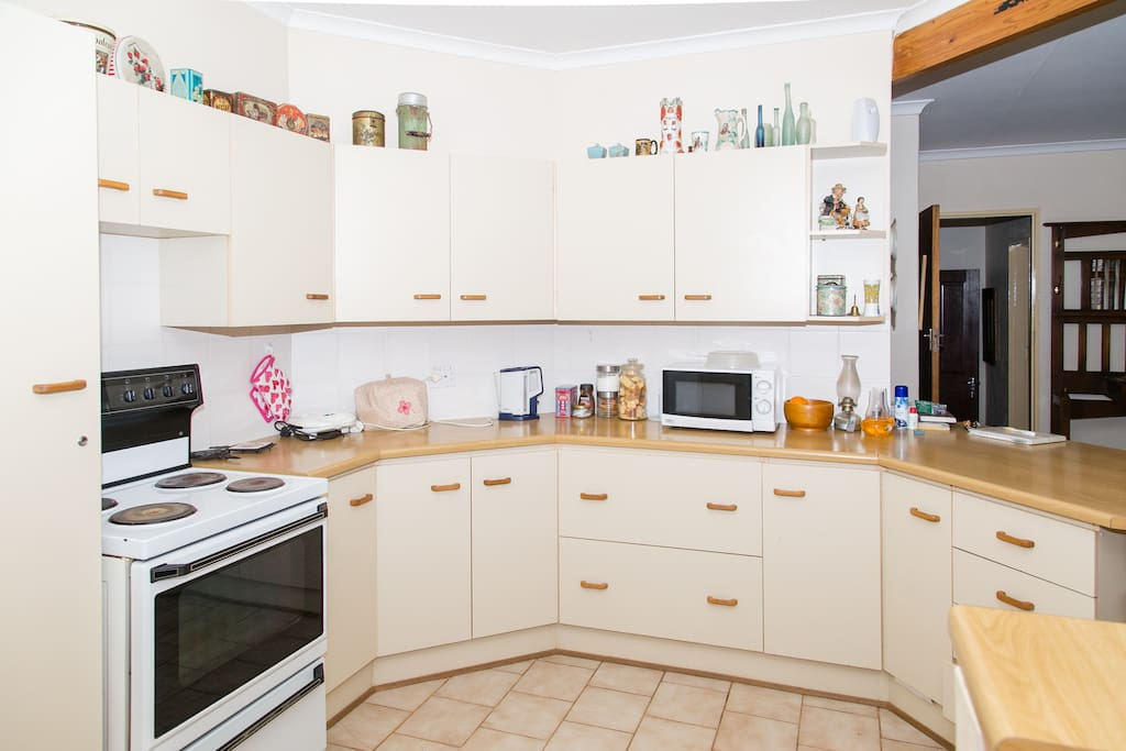 Fully equipped open deck plan kitchen