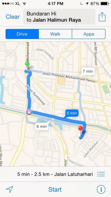 Very close to Grand Indonesia, Plaza Indonesia, Lotte avenue shopping center, Pacific place, Setia budi mall