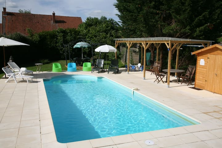 RURAL BURGUNDY FAMILY FUN SLEEPS 12 - Marcilly-Ogny - Hus