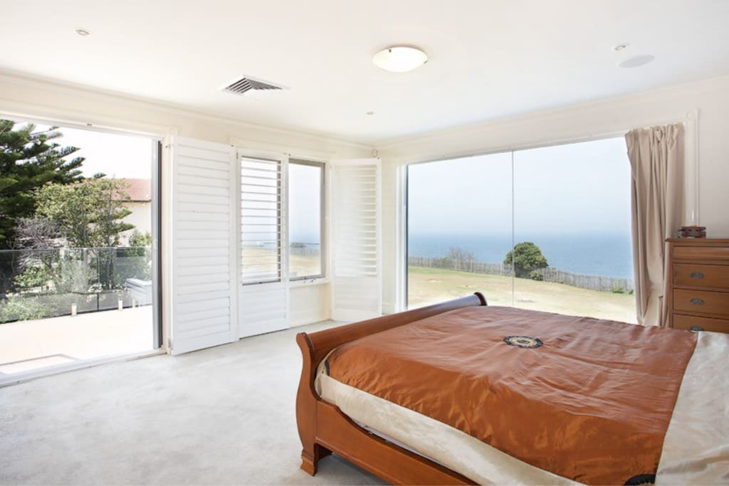 Master bedroom with walk in wardrobe and ensuite